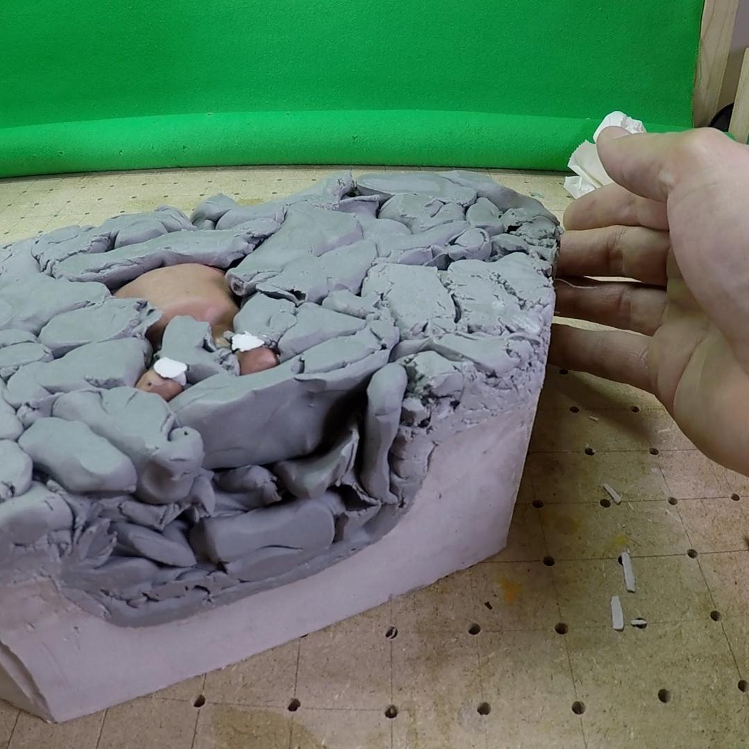 Démoulage du modèle en argile