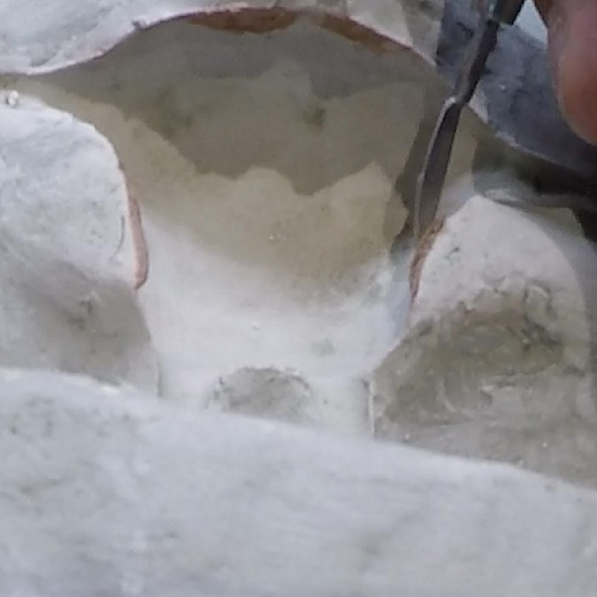 Nettoyage du moule en plâtre