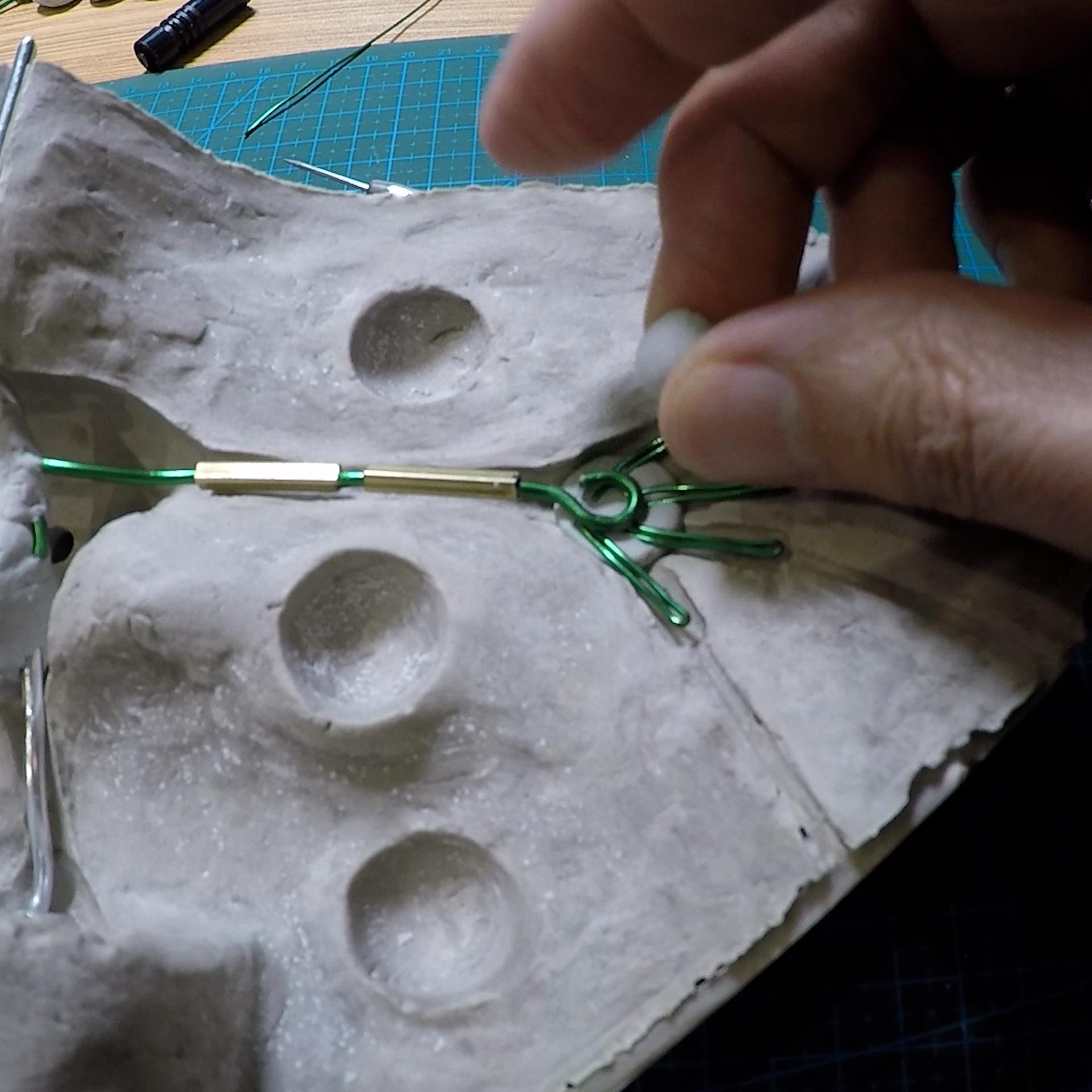 Armature des mains d'un personnage d'animation en stopmotion