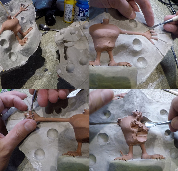 Démoulage et vidage du moule en plâtre